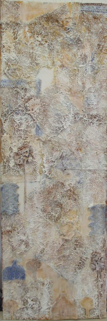 French Lace - mixed media - $270 - 25x75cm canvas