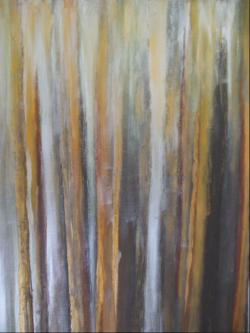 Westland [evening colour on trees] - acrylic - $250 - 41x51cm