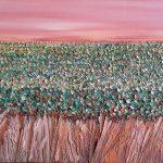 Autumn Vines Marlborough - oil - $420.00 - 30x76cm