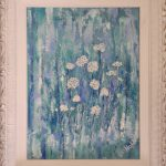 Cottage flowers - mixed media, stressed french frame - $390.00 - 51x41cm