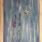 Lavande & Abeille - medium oil, stressed frame - $470.00 - 51x40cm